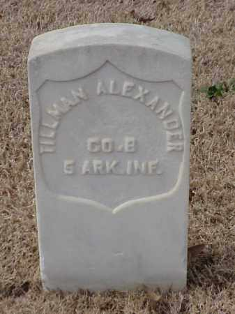 ALEXANDER (VETERAN UNION), TILLMAN - Pulaski County, Arkansas | TILLMAN ALEXANDER (VETERAN UNION) - Arkansas Gravestone Photos