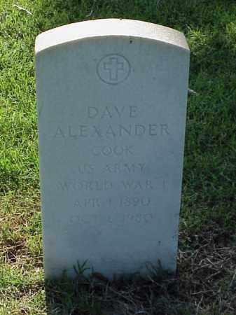 ALEXANDER (VETERAN WWI), DAVE - Pulaski County, Arkansas | DAVE ALEXANDER (VETERAN WWI) - Arkansas Gravestone Photos