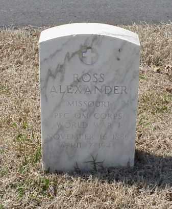 ALEXANDER (VETERAN WWI), ROSS - Pulaski County, Arkansas | ROSS ALEXANDER (VETERAN WWI) - Arkansas Gravestone Photos