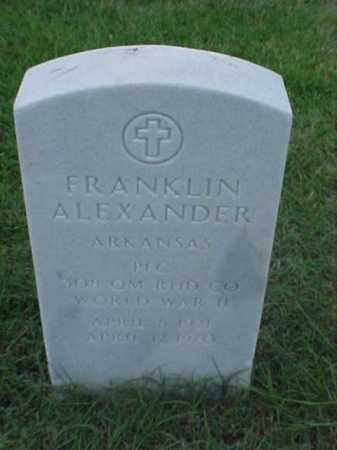 ALEXANDER (VETERAN WWII), FRANKLIN - Pulaski County, Arkansas | FRANKLIN ALEXANDER (VETERAN WWII) - Arkansas Gravestone Photos