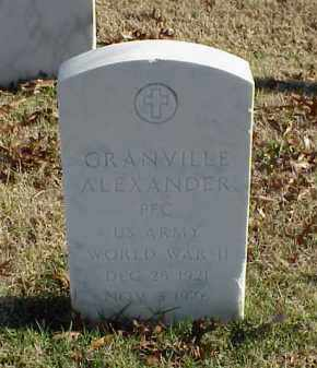 ALEXANDER (VETERAN WWII), GRANVILLE - Pulaski County, Arkansas | GRANVILLE ALEXANDER (VETERAN WWII) - Arkansas Gravestone Photos