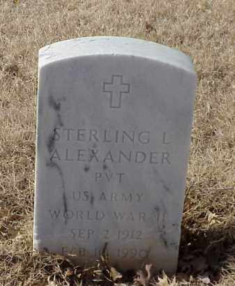 ALEXANDER (VETERAN WWII), STERLING L - Pulaski County, Arkansas | STERLING L ALEXANDER (VETERAN WWII) - Arkansas Gravestone Photos