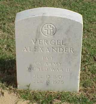 ALEXANDER (VETERAN WWII), VERGEL - Pulaski County, Arkansas | VERGEL ALEXANDER (VETERAN WWII) - Arkansas Gravestone Photos