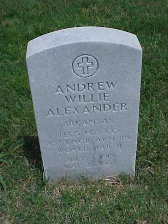 ALEXANDER (VETERAN WWII), ANDREW WILLIE - Pulaski County, Arkansas | ANDREW WILLIE ALEXANDER (VETERAN WWII) - Arkansas Gravestone Photos