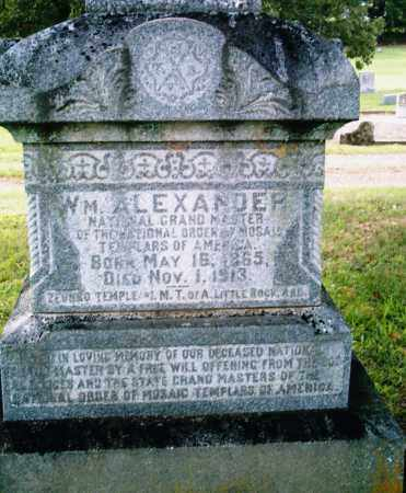 ALEXANDER, WILLIAM - Pulaski County, Arkansas | WILLIAM ALEXANDER - Arkansas Gravestone Photos