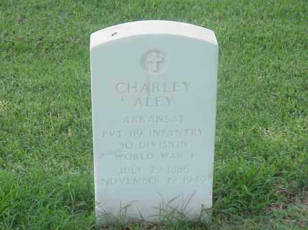 ALEY (VETERAN WWI), CHARLEY - Pulaski County, Arkansas | CHARLEY ALEY (VETERAN WWI) - Arkansas Gravestone Photos