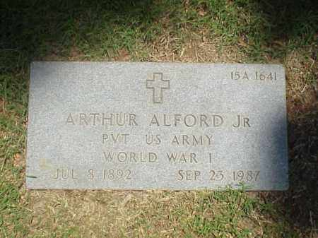 ALFORD, JR (VETERAN WWI), ARTHUR - Pulaski County, Arkansas | ARTHUR ALFORD, JR (VETERAN WWI) - Arkansas Gravestone Photos