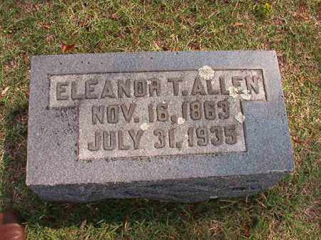 ALLEN, ELEANOR T - Pulaski County, Arkansas | ELEANOR T ALLEN - Arkansas Gravestone Photos