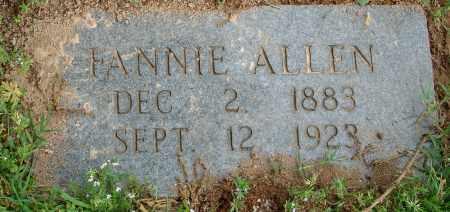 ALLEN, FANNIE - Pulaski County, Arkansas | FANNIE ALLEN - Arkansas Gravestone Photos