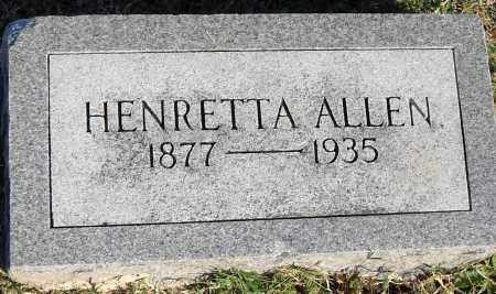 ALLEN, HENRETTA - Pulaski County, Arkansas | HENRETTA ALLEN - Arkansas Gravestone Photos