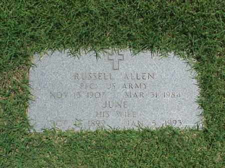 ALLEN, JUNE - Pulaski County, Arkansas | JUNE ALLEN - Arkansas Gravestone Photos