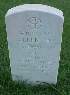 ALLEN, JR (VETERAN WWII), WILLIAM - Pulaski County, Arkansas | WILLIAM ALLEN, JR (VETERAN WWII) - Arkansas Gravestone Photos