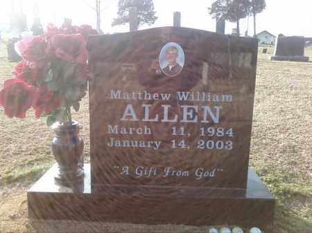 ALLEN, MATTHEW WILLIAM - Pulaski County, Arkansas | MATTHEW WILLIAM ALLEN - Arkansas Gravestone Photos