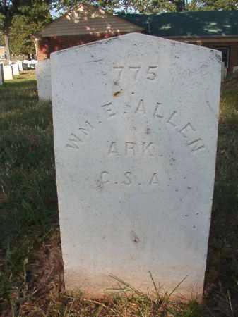 ALLEN (VETERAN CSA), WILLIAM E - Pulaski County, Arkansas | WILLIAM E ALLEN (VETERAN CSA) - Arkansas Gravestone Photos