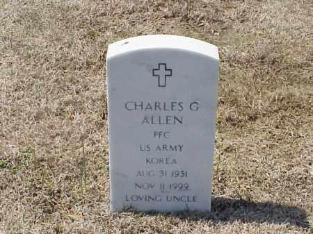 ALLEN (VETERAN KOR), CHARLES G - Pulaski County, Arkansas | CHARLES G ALLEN (VETERAN KOR) - Arkansas Gravestone Photos