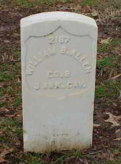 ALLEN (VETERAN UNION), WILLIAM B - Pulaski County, Arkansas | WILLIAM B ALLEN (VETERAN UNION) - Arkansas Gravestone Photos