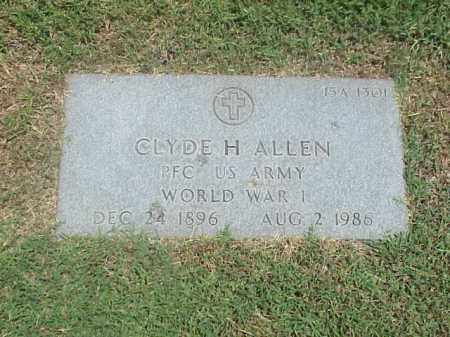 ALLEN (VETERAN WWI), CLYDE H - Pulaski County, Arkansas | CLYDE H ALLEN (VETERAN WWI) - Arkansas Gravestone Photos