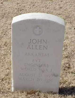 ALLEN (VETERAN WWI), JOHN - Pulaski County, Arkansas | JOHN ALLEN (VETERAN WWI) - Arkansas Gravestone Photos