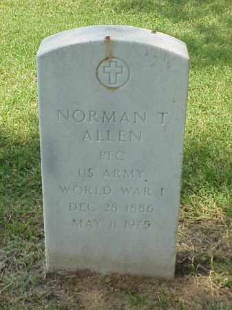 ALLEN (VETERAN WWI), NORMAN T - Pulaski County, Arkansas | NORMAN T ALLEN (VETERAN WWI) - Arkansas Gravestone Photos