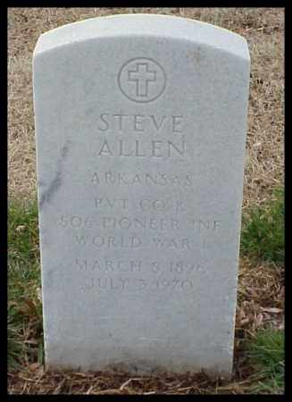 ALLEN (VETERAN WWI), STEVE - Pulaski County, Arkansas | STEVE ALLEN (VETERAN WWI) - Arkansas Gravestone Photos