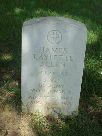 ALLEN (VETERAN WWII), JAMES LAYFETTE - Pulaski County, Arkansas | JAMES LAYFETTE ALLEN (VETERAN WWII) - Arkansas Gravestone Photos