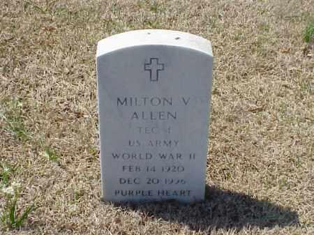 ALLEN (VETERAN WWII), MILTON V - Pulaski County, Arkansas   MILTON V ALLEN (VETERAN WWII) - Arkansas Gravestone Photos