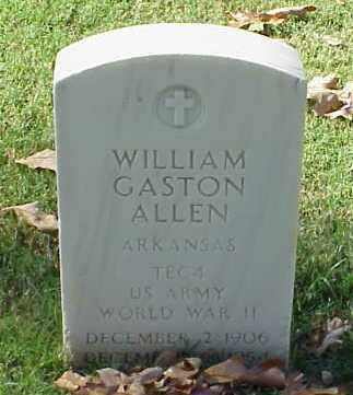 ALLEN (VETERAN WWII), WILLIAM GASTON - Pulaski County, Arkansas | WILLIAM GASTON ALLEN (VETERAN WWII) - Arkansas Gravestone Photos
