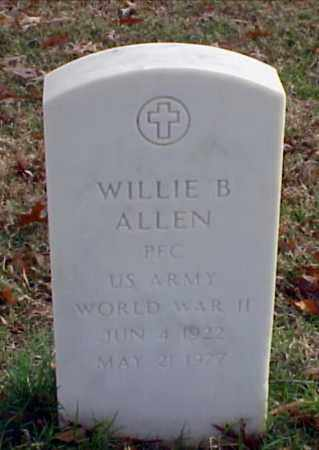 ALLEN (VETERAN WWII), WILLIE B - Pulaski County, Arkansas | WILLIE B ALLEN (VETERAN WWII) - Arkansas Gravestone Photos