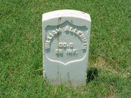ALLENMAN (VETERAN UNION), WILLIAM - Pulaski County, Arkansas | WILLIAM ALLENMAN (VETERAN UNION) - Arkansas Gravestone Photos