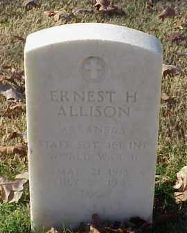 ALLISON (VETERAN WWII), ERNEST H - Pulaski County, Arkansas | ERNEST H ALLISON (VETERAN WWII) - Arkansas Gravestone Photos
