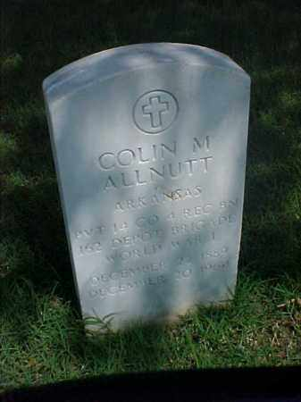 ALLNUTT (VETERAN  WWI), COLIN M - Pulaski County, Arkansas | COLIN M ALLNUTT (VETERAN  WWI) - Arkansas Gravestone Photos