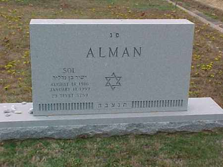 ALMAN, SOL - Pulaski County, Arkansas | SOL ALMAN - Arkansas Gravestone Photos