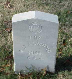 ALMOND (VETERAN CSA), R D - Pulaski County, Arkansas | R D ALMOND (VETERAN CSA) - Arkansas Gravestone Photos