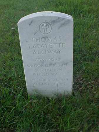 ALOWAY (VETERAN WWI), THOMAS LAFAYETTE - Pulaski County, Arkansas | THOMAS LAFAYETTE ALOWAY (VETERAN WWI) - Arkansas Gravestone Photos