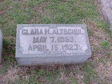 ALTSCHUL, CLARA H - Pulaski County, Arkansas | CLARA H ALTSCHUL - Arkansas Gravestone Photos