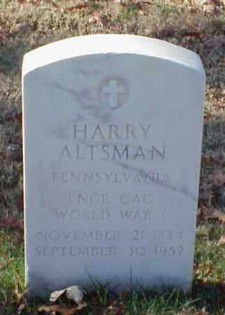 ALTSMAN (VETERAN WWI), HARRY - Pulaski County, Arkansas | HARRY ALTSMAN (VETERAN WWI) - Arkansas Gravestone Photos