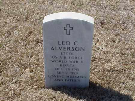 ALVERSON (VETERAN 2 WARS), LEO C - Pulaski County, Arkansas | LEO C ALVERSON (VETERAN 2 WARS) - Arkansas Gravestone Photos