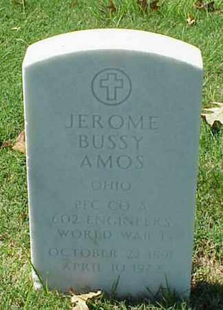 AMOS (VETERAN WWI), JEROME BUSSY - Pulaski County, Arkansas | JEROME BUSSY AMOS (VETERAN WWI) - Arkansas Gravestone Photos