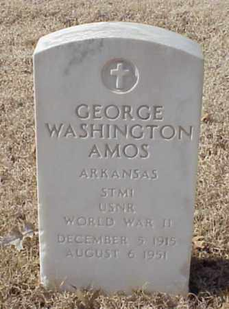 AMOS (VETERAN WWII), GEORGE WASHINGTON - Pulaski County, Arkansas | GEORGE WASHINGTON AMOS (VETERAN WWII) - Arkansas Gravestone Photos