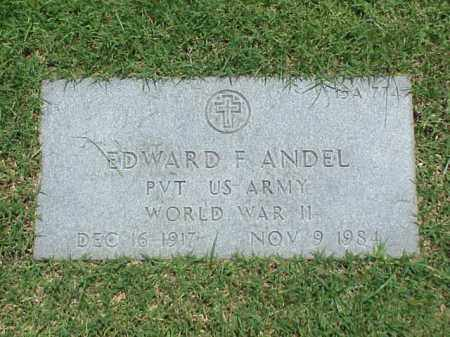 ANDEL (VETERAN WWII), EDWARD F - Pulaski County, Arkansas | EDWARD F ANDEL (VETERAN WWII) - Arkansas Gravestone Photos