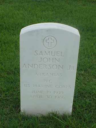 ANDERSON, JR (VETERAN), SAMUEL JOHN - Pulaski County, Arkansas | SAMUEL JOHN ANDERSON, JR (VETERAN) - Arkansas Gravestone Photos