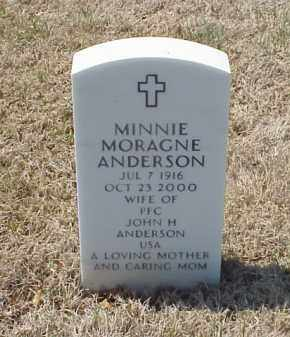 MORAGNE ANDERSON, MINNIE - Pulaski County, Arkansas | MINNIE MORAGNE ANDERSON - Arkansas Gravestone Photos