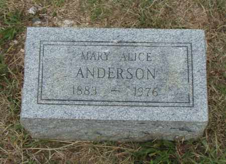 ANDERSON, MARY ALICE - Pulaski County, Arkansas | MARY ALICE ANDERSON - Arkansas Gravestone Photos