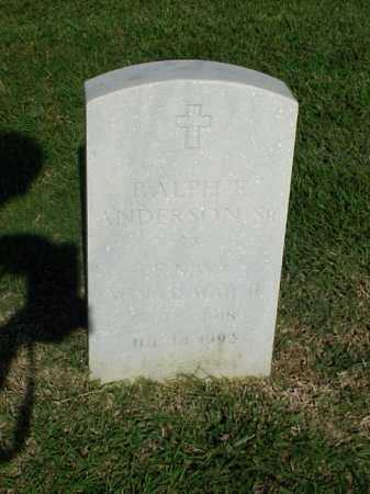 ANDERSON, SR (VETERAN WWII), RALPH E - Pulaski County, Arkansas | RALPH E ANDERSON, SR (VETERAN WWII) - Arkansas Gravestone Photos