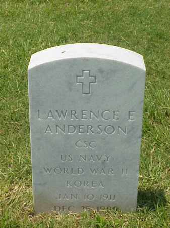 ANDERSON (VETERAN 2WARS), LAWRENCE E - Pulaski County, Arkansas | LAWRENCE E ANDERSON (VETERAN 2WARS) - Arkansas Gravestone Photos