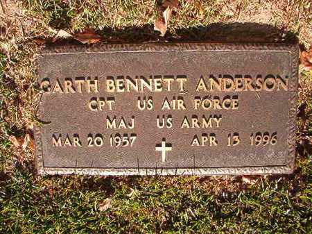 ANDERSON (VETERAN), GARTH BENNETT - Pulaski County, Arkansas | GARTH BENNETT ANDERSON (VETERAN) - Arkansas Gravestone Photos