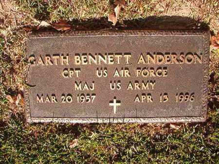 ANDERSON (VETERAN), GARTH BENNETT - Pulaski County, Arkansas | GARTH BENNETT ANDERSON (VETERAN) - Arkansas Gravestone Photos