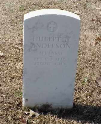 ANDERSON (VETERAN), HUBERT H - Pulaski County, Arkansas | HUBERT H ANDERSON (VETERAN) - Arkansas Gravestone Photos