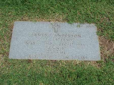 ANDERSON, ANNIS - Pulaski County, Arkansas | ANNIS ANDERSON - Arkansas Gravestone Photos