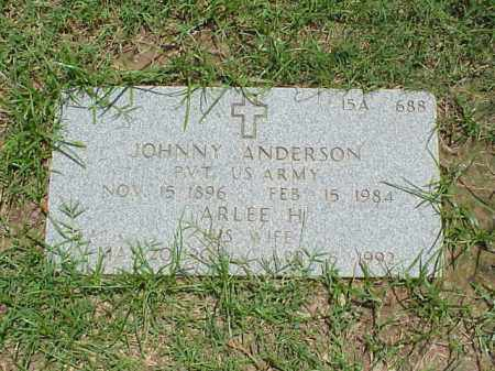 ANDERSON (VETERAN), JOHNNY - Pulaski County, Arkansas | JOHNNY ANDERSON (VETERAN) - Arkansas Gravestone Photos